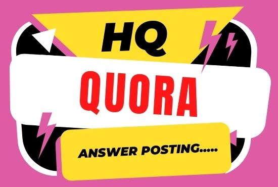 5 High quality quora answers with backlink for your website