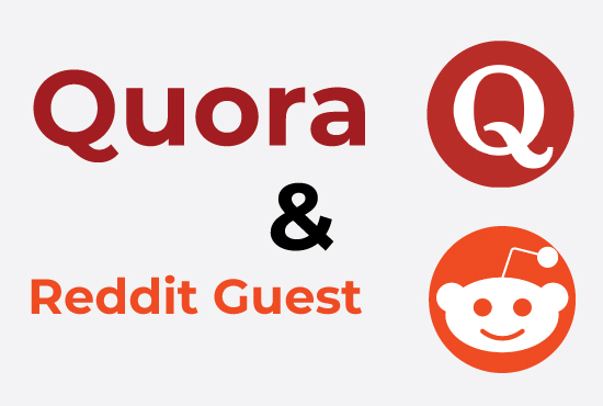 Fast promotion of your website for 20 HQ Quora Answers and Reddit Guest Posts