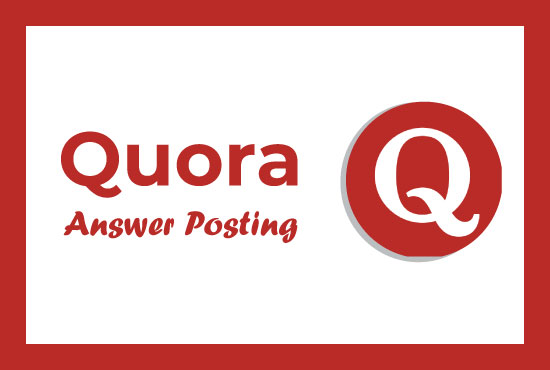Provide You Niche Relevant 5 Quora Answer's For Getting Real Traffic