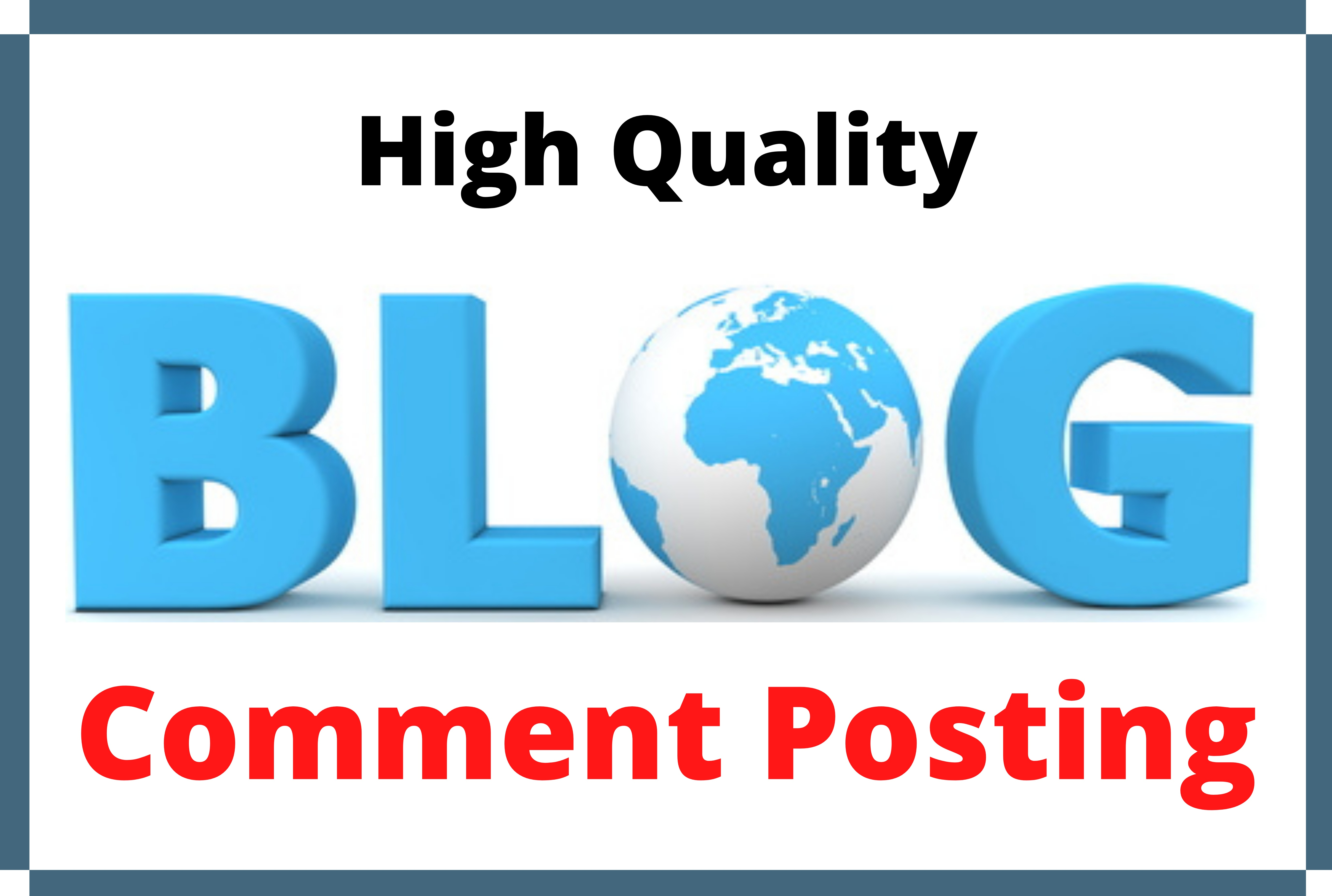 Promote website by 50 High Quality Blog Comment