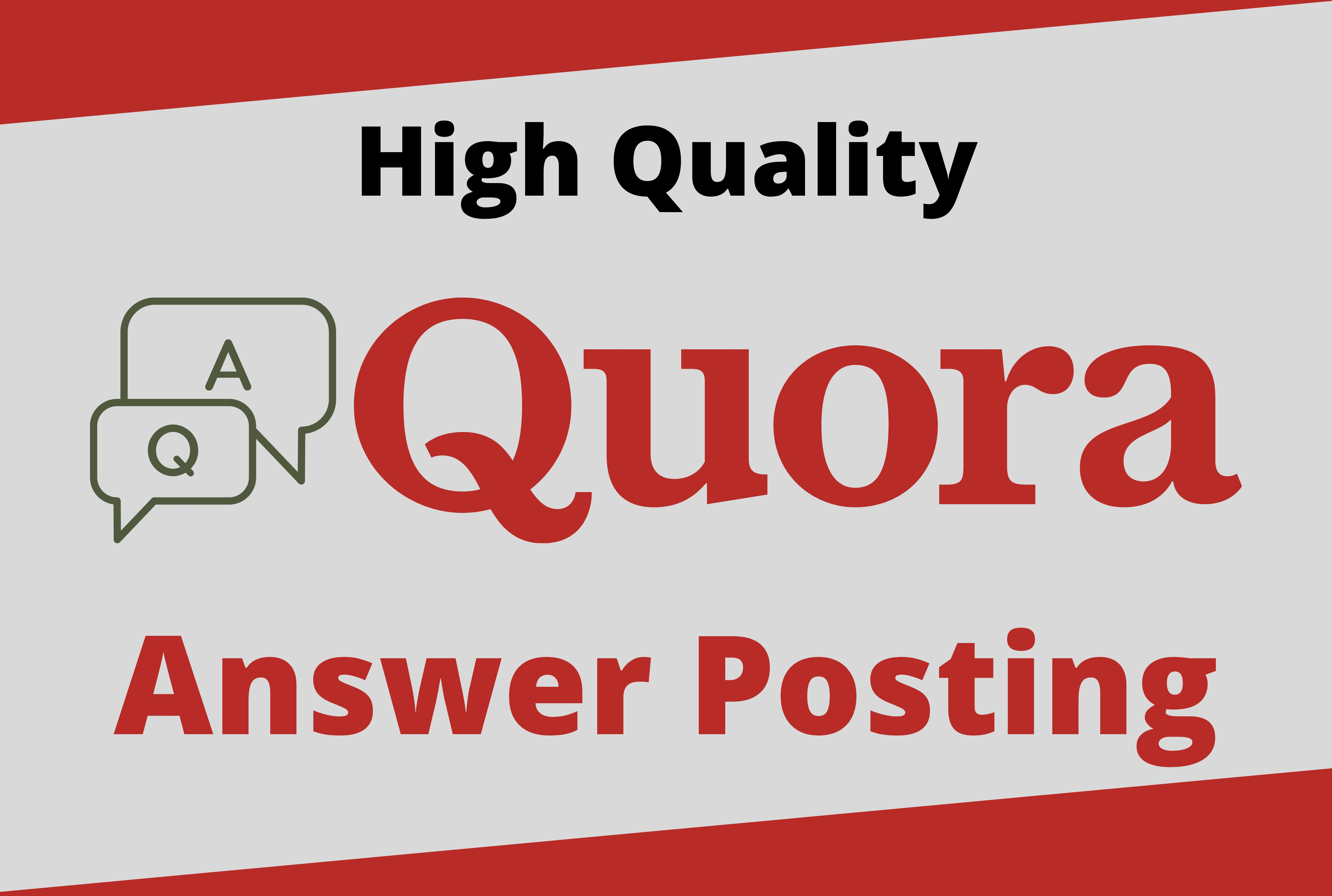 Promote website by 3 High Quality Quora Answer