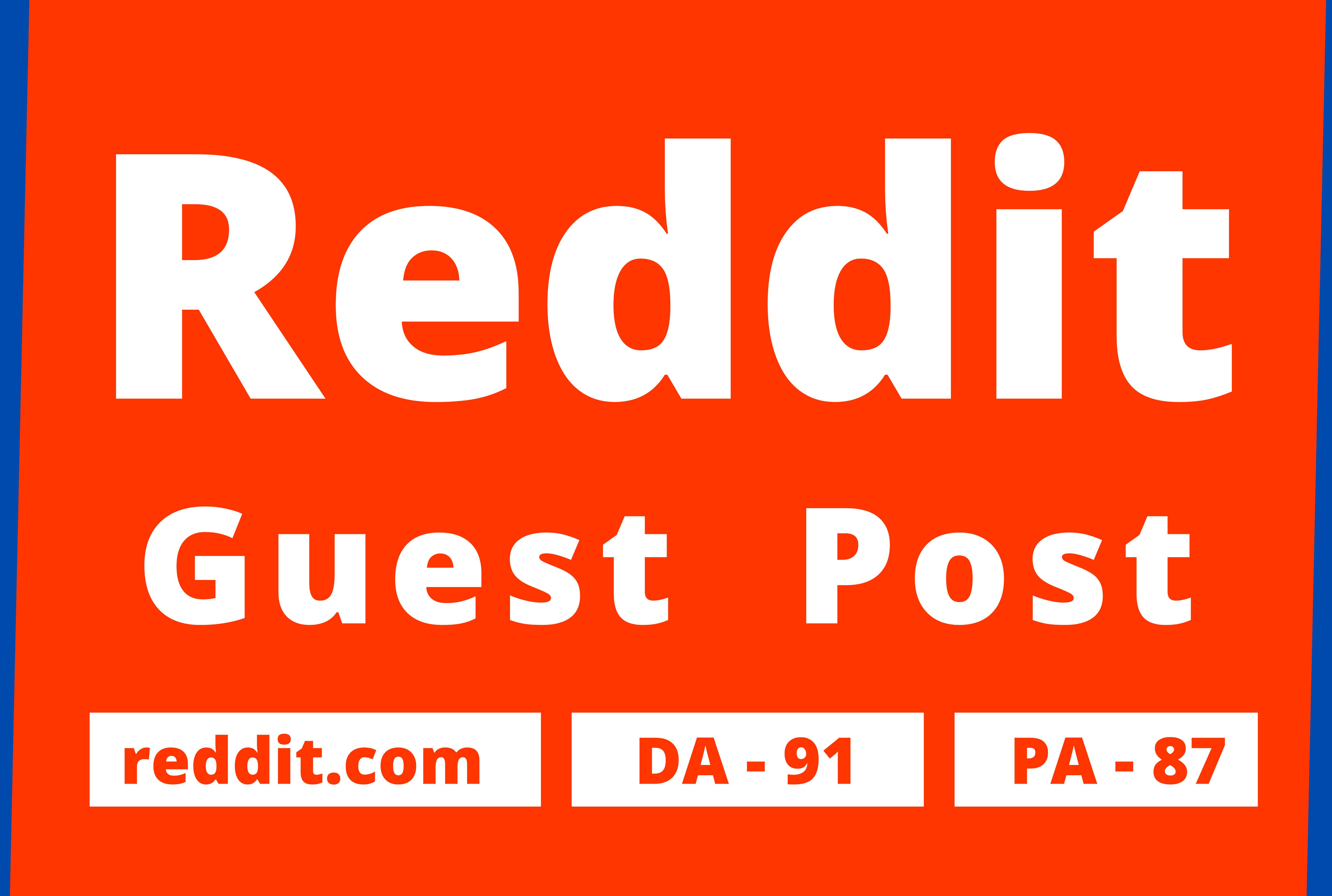 Promote Website by 10 High Quality Reddit Guest Post Backlink