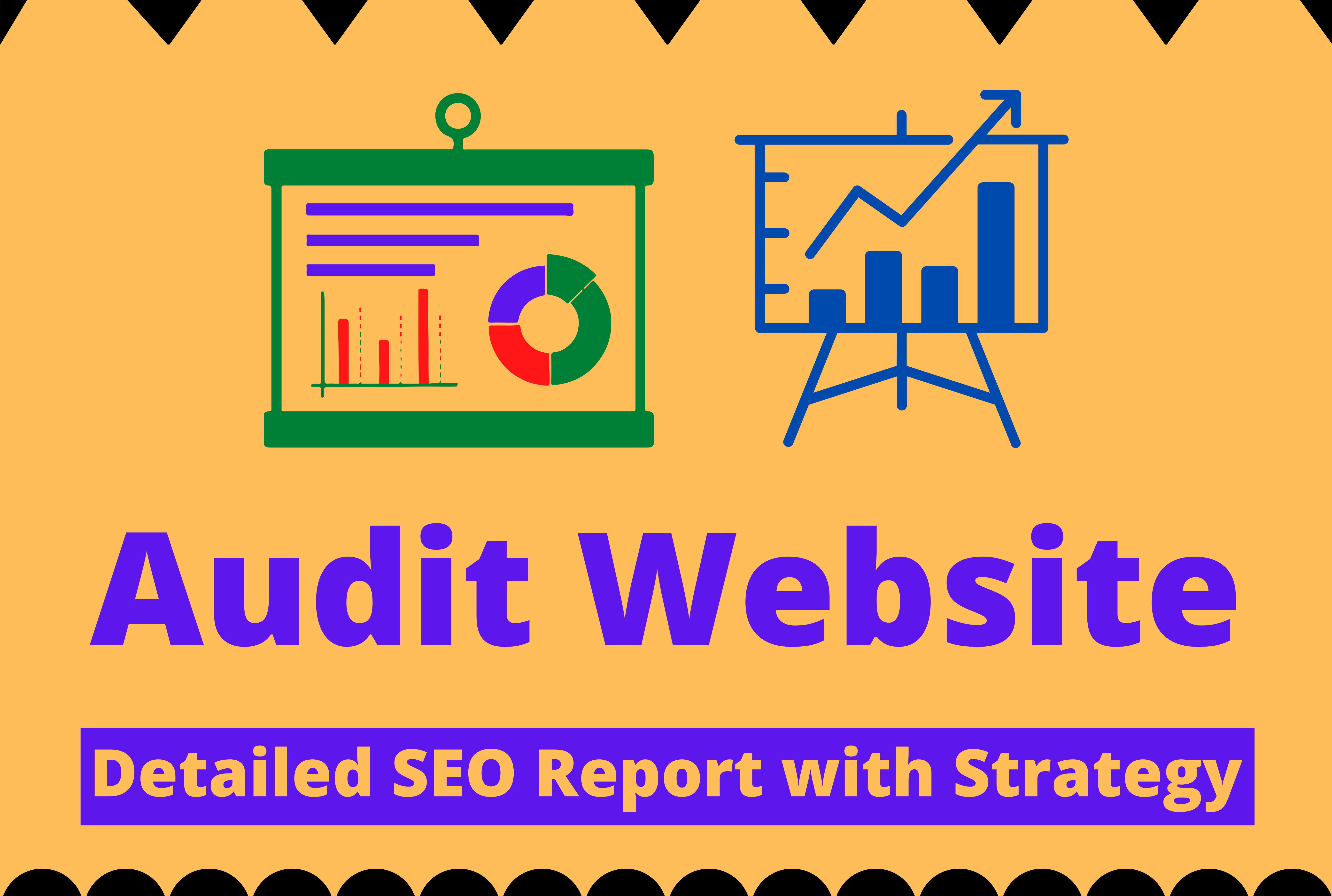 I will audit your website and make a detailed SEO report with strategy