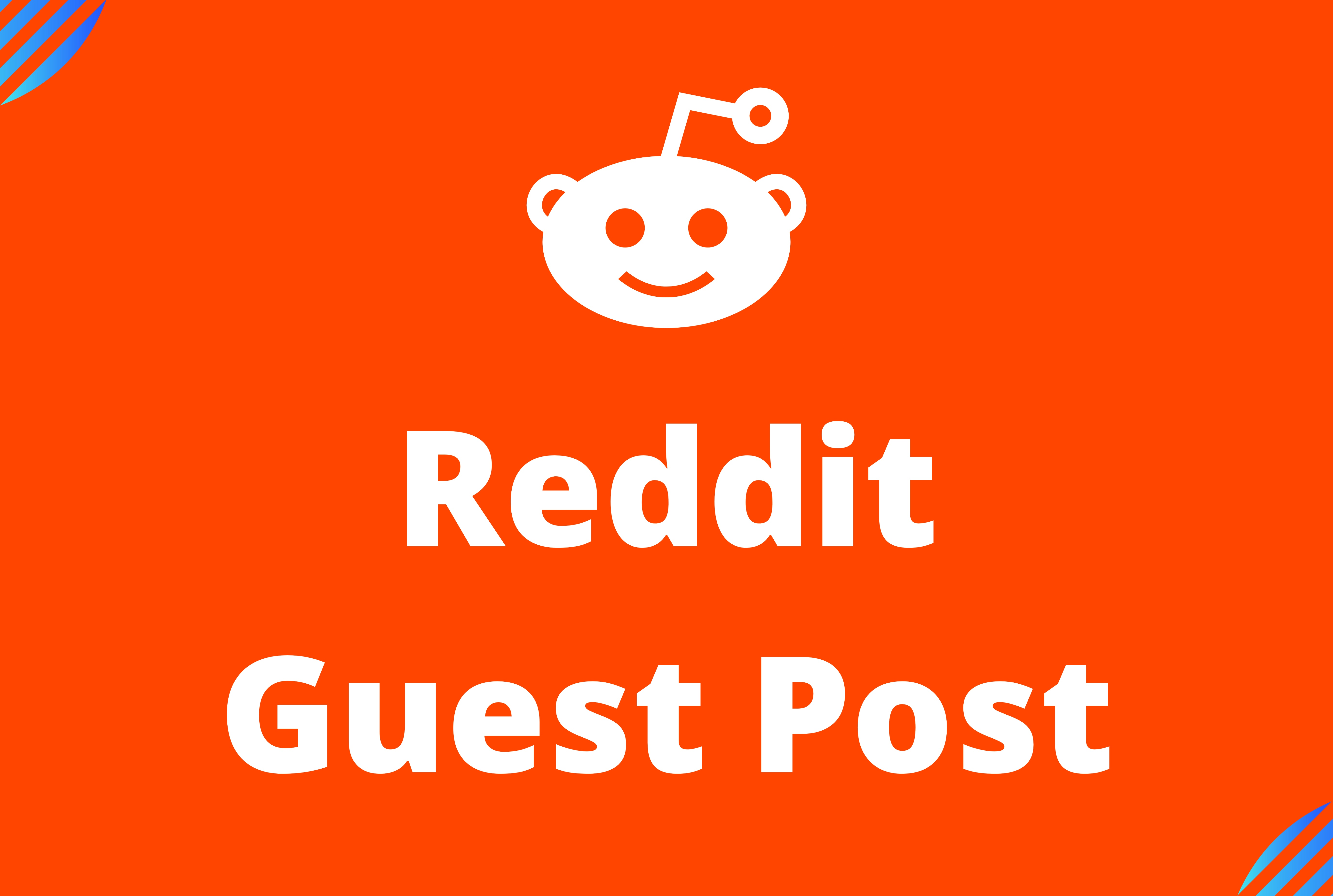 Promote website by 10 High Quality Reddit Guest Post