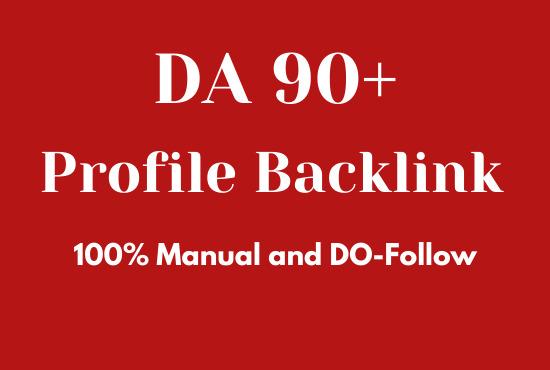 I will do 10 DA 90+ Profile Backlink for your website ranking