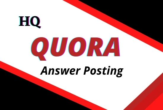 Promote Your Site with High Quality 10 Quora Answer posting