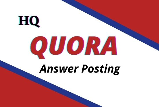 I Will Do Promote Your Website 20 High-Quality Quora Answer With Targeted Traffic