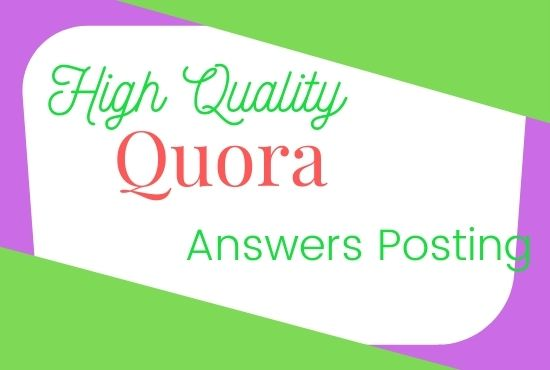 I will Promote your website in 10 HQ Quora Answers with contextual link