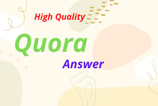 Promote your websites and url with 10 high quality quora answers and backlinks