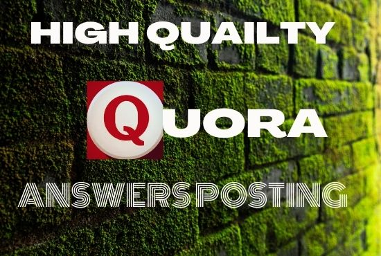 I Will Give your website for backlink and with 5 HQ Quora answer for your Targeted Traffic