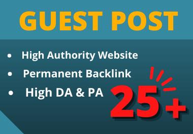 write and publish 10 Guest Post DA 50 to 90 website unique content contextual backlinks