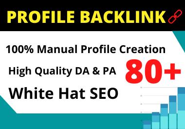 25 Profile Backlinks high authority permanent backlink manual link building