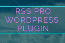 RSS Pro WordPress Plugin Software for windows