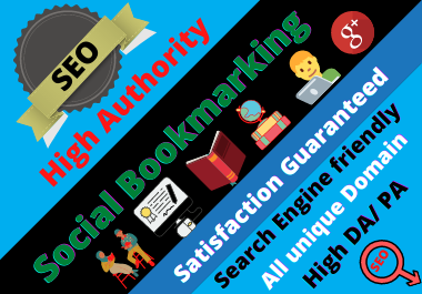 60 Manual Social Bookmarking High authority permanent backlinks must rank your website