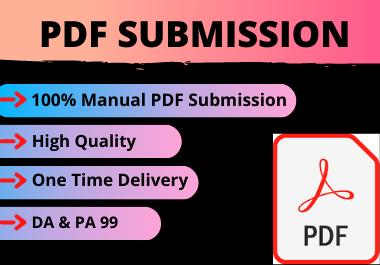 20 PDF Submission High Authority Low spam score website permanent backlinks unique link building