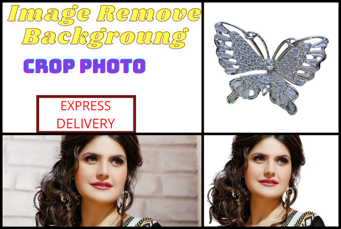 I will remove image background, crop images, photo