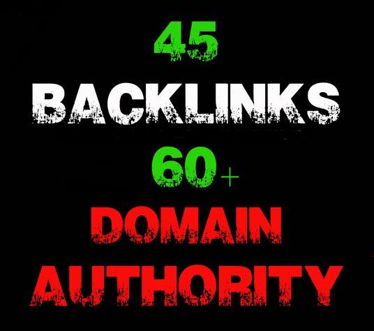 Manually do 45 backlinks from high da domains