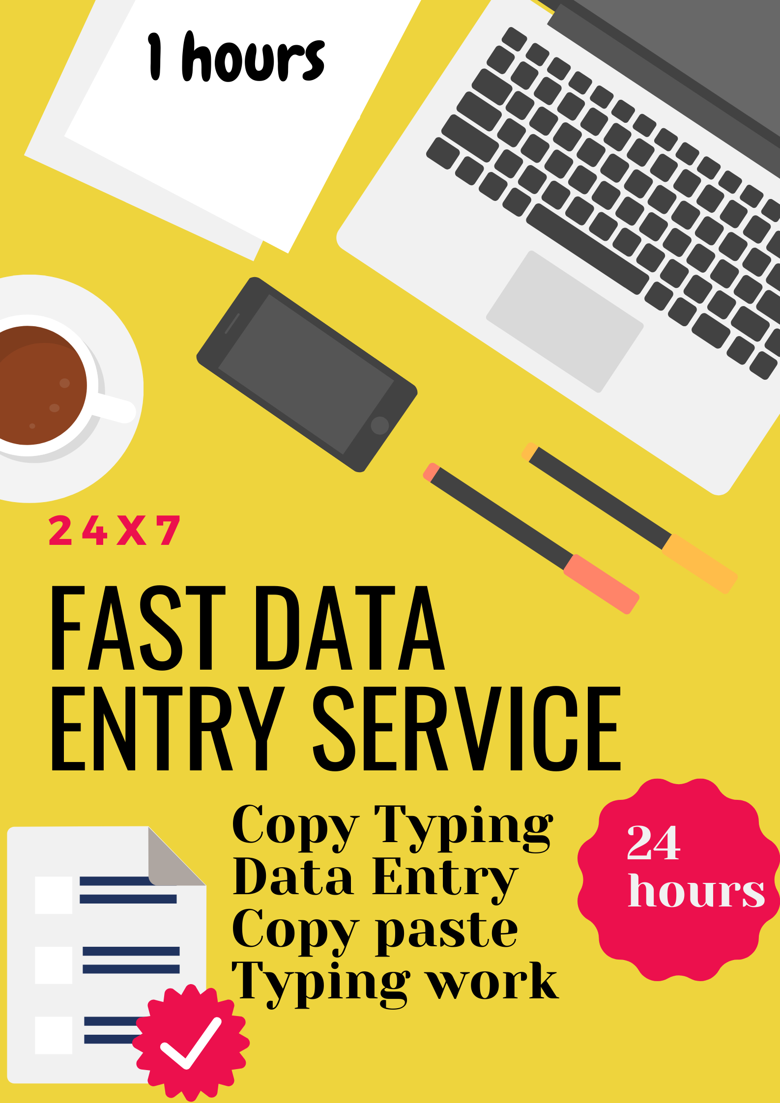 I will do best data entry, copy paste, typing