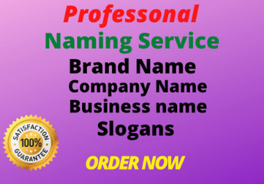 I will create unique brand name business name with slogan for you