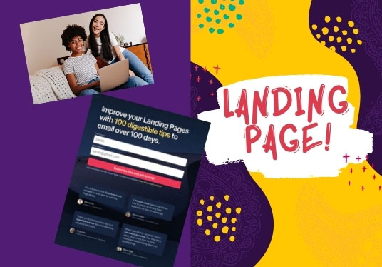 responsive word press landing page design thrive architect