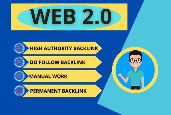 Create 50+ dofollow high authority web 2.0 backlink manually