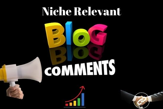 Submit manually 100 niche relevant Blog Comments with high backlink