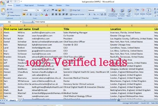 I will do 50 targeted b2b LinkedIn Lead Generation and Email list prospect