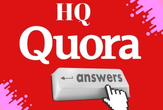 I will provide 5 HQ Quora Answer with Backlinks in your Keyword & URL