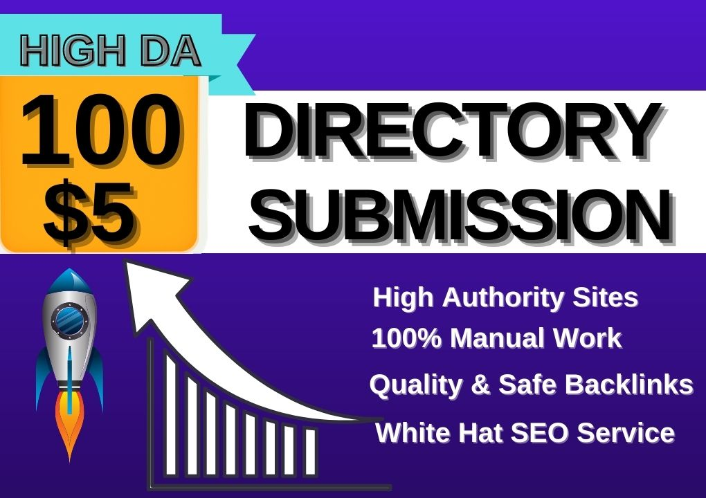 Provide 100 Best Quality Directory Submission Backlinks on High Authority Sites