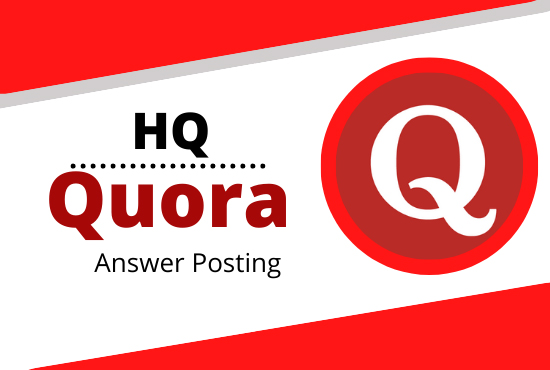 I WILL Promote your website by high quality 5 Quora answers with your keyword and URL