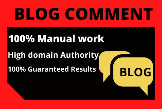 100 Blog Comments High Quality website unique content Permanent Backlinks Blog comments Backlinks