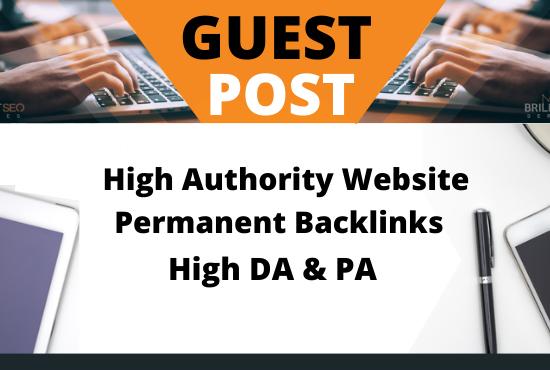 Write and Publish 10 Guest Post on High authority websites DA90+ unique content