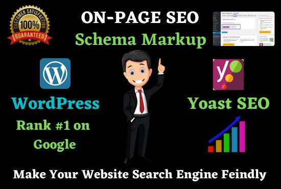 I will Setup WordPress Yoast SEO,  On page optimization,  meta tag and schema markup