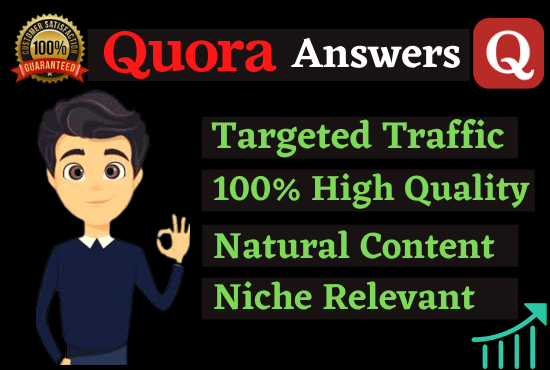 Guaranteed Targeted Traffic Promote Your Website 10 High Quality Quora Answers