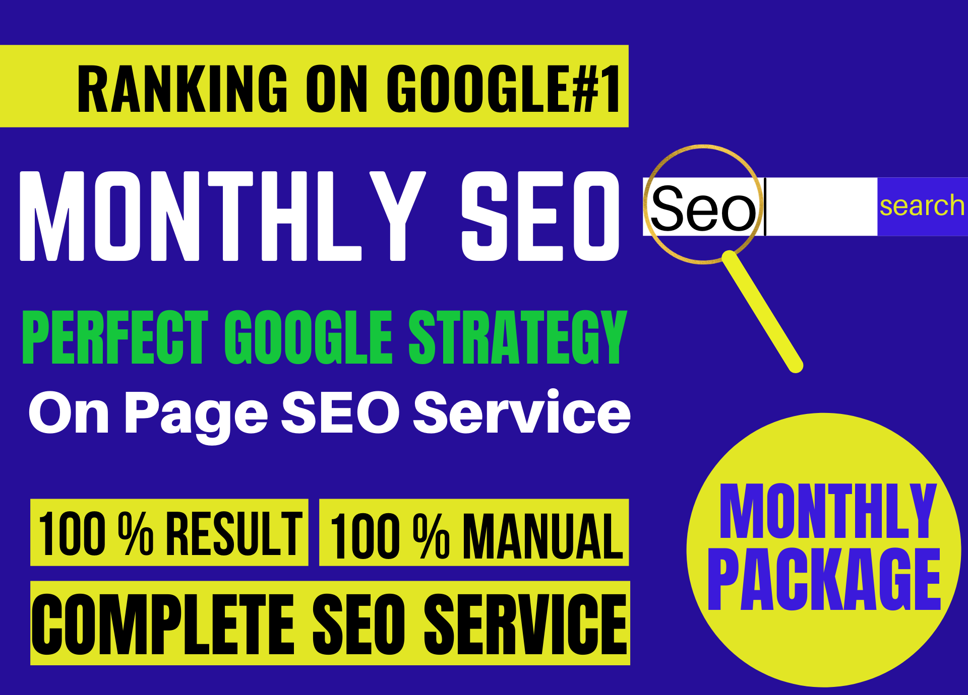 Monthly On Page SEO Service With Best Backlinks