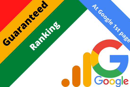 Provide guaranteed service google 1st page ranking with white hat link-building in 2 Keyword.