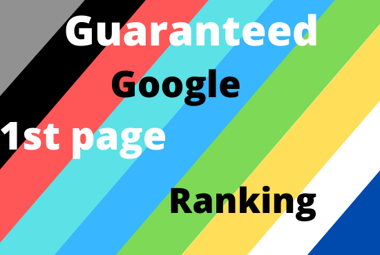 Provide guaranteed service google 1st page ranking with white hat link-building in 1 Keyword.