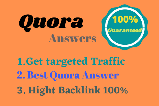 Guaranteed Your website with 40 Quora answers