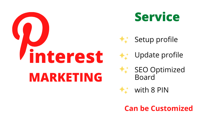 Setup or Update your Pinterest profile with SEO Optimized 1 Board with 8 Pin