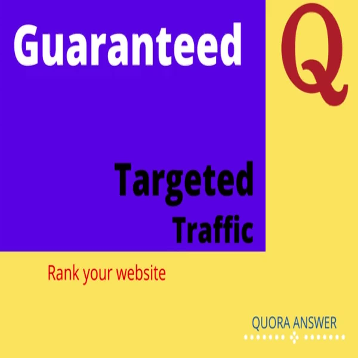 Guaranteed targeted traffic with 10 Quora Answer with backlink