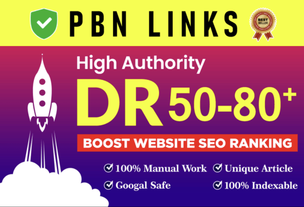 Get 50 DR 50 to 60 Plus Permanent Homepage PBN Dofollow Backlinks