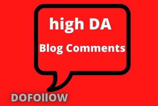 High DA 150 MANUAL Dofollow Blog comments Backlinks