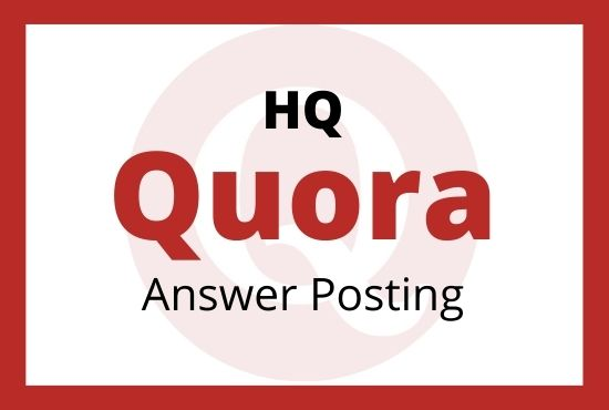 Get 20 unparalleled quora answer with high quality backlinks