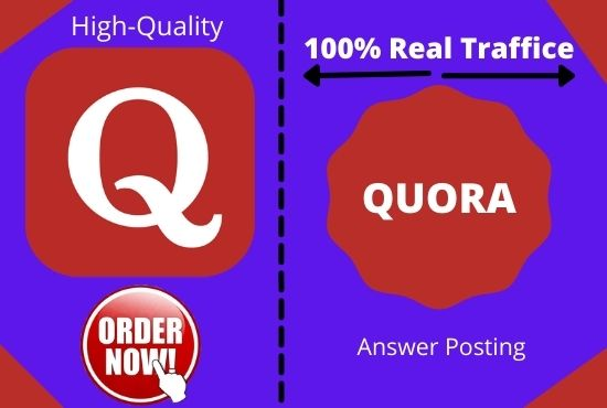 Niche relevant Link-building with 5 high-quality and unique Quora answer posting.