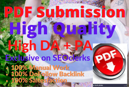I will Publish 30 PDF submission Best quality High Quality Backlink
