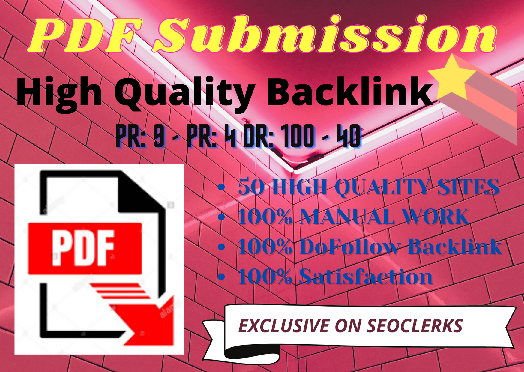 30 PDF submission I Will do Best quality High Quality Backlink