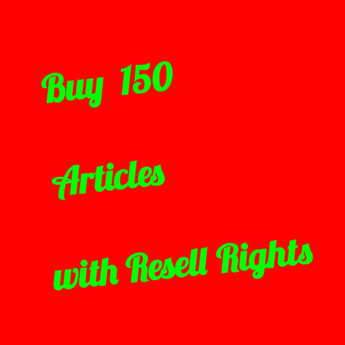 BUY 150 EBooks With Resell Rights