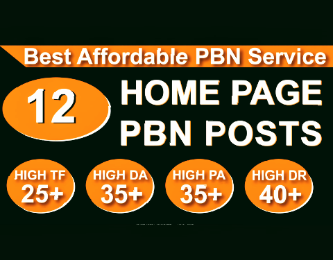 Build Homepage 12 Dofollow PBN High author40 Plus DA PA CF TF Moz Authority Expired domain Backlinks