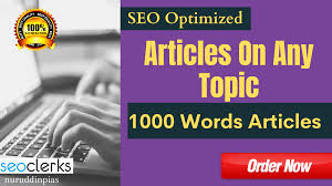 I will write 1000 words seo optimized article