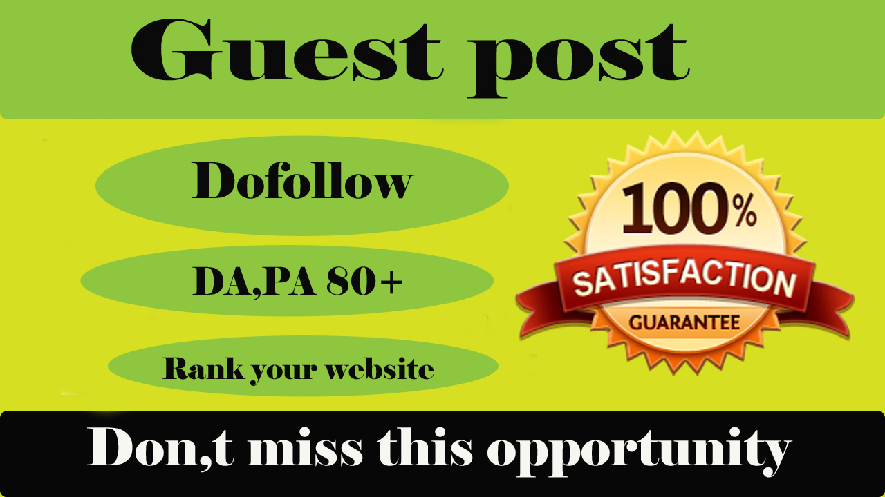 Publish 10 Guest Post On High Authority Websites.